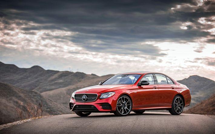 Download imagens Mercedes-Benz E-Class, 4k, W213, 2017 carros, AMG, Mercedes
