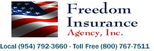 Freedom Insurance Agency has earned its well-respected business reputation in Florida through its professionalism with company affiliates and commitment to long-term client relations. Founded in 1989 as an independent general lines insurance agency in the State of Florida, Freedom Insurance has been proudly serving Fort Lauderdale, the South Florida tri-county communities of Broward, Dade and Palm Beach, and all of Florida, for over 25 years.