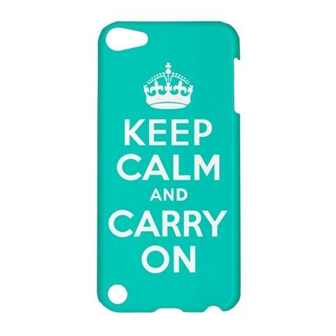 iPod 5 Keep Calm and Caary On Blue iPod Touch 5 5G 5th Hardshell Case Cover
