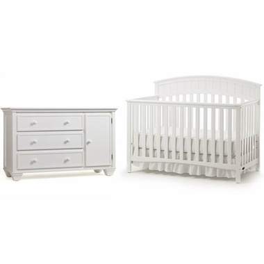 594 Graco Cribs 2 Piece Nursery Set Charleston Convertible Crib And Portland Combo Dresser