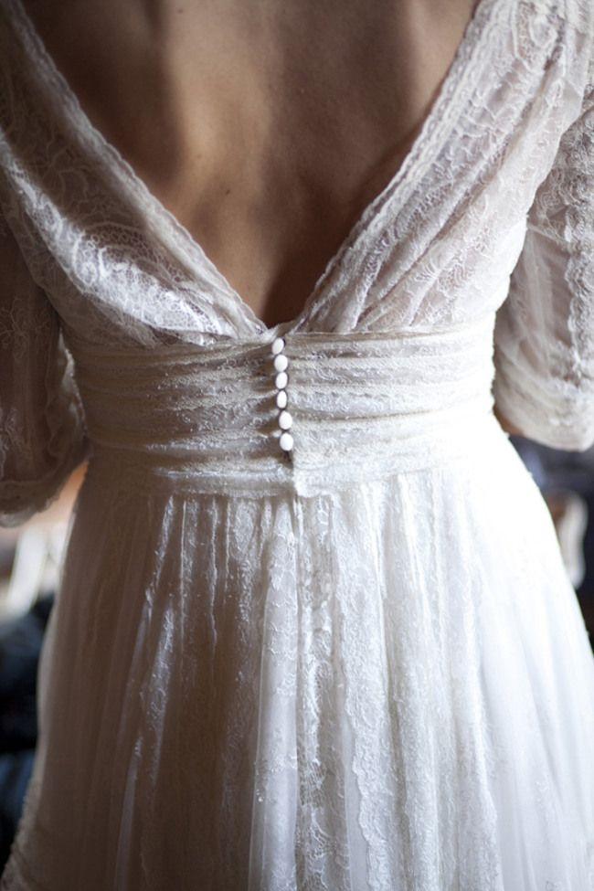 détail dos de robe