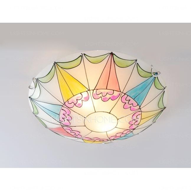 Kids Ceiling Light Countryside Bedroom In 30-39W