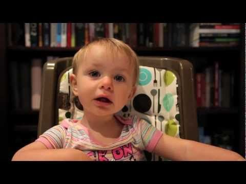 dad interrogates his baby girl about who her favorite parent is... so cute. Reminds me of baby Brody