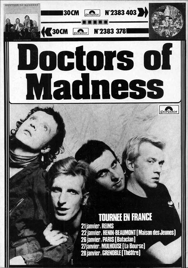 Doctors of Madness on tour in France 1976