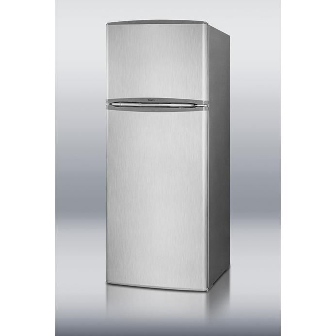 12 7 cu ft apartment size refrigerator freezer stainless steel