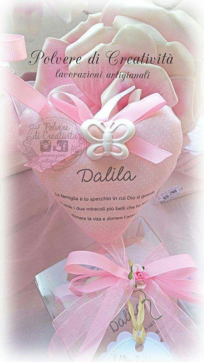 bomboniera battesimo Dalila  cuoricino in stoffa e profumato gessetto   #bomboniera #battesimo #handmade #frasi #bimbi #stoffa #ceramica #bomboniere