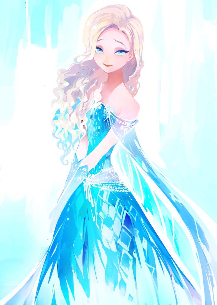 love this fan art of elsa