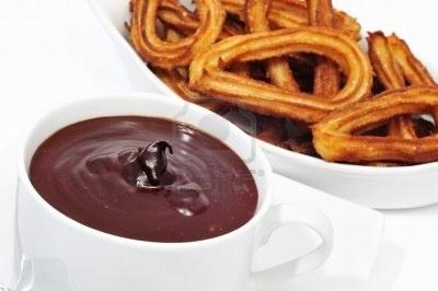 Churros con chocolate #spain #food