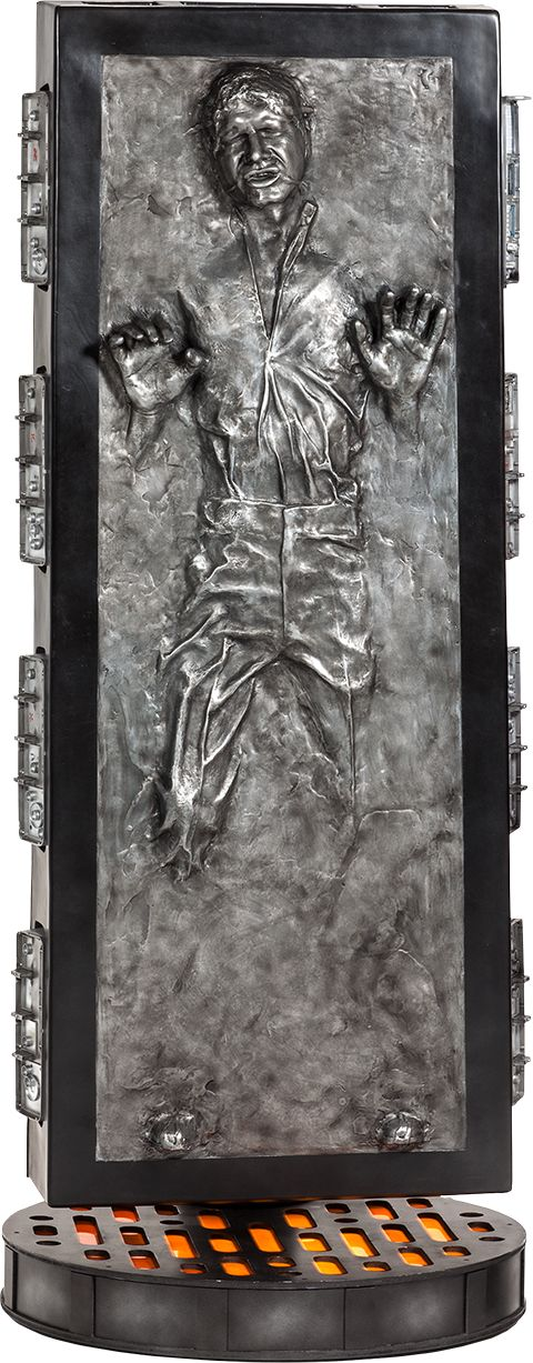 For only 7 Grand, you too can own a Han Solo in Carbonite Life-Size Figure.  SEVEN GRAND.