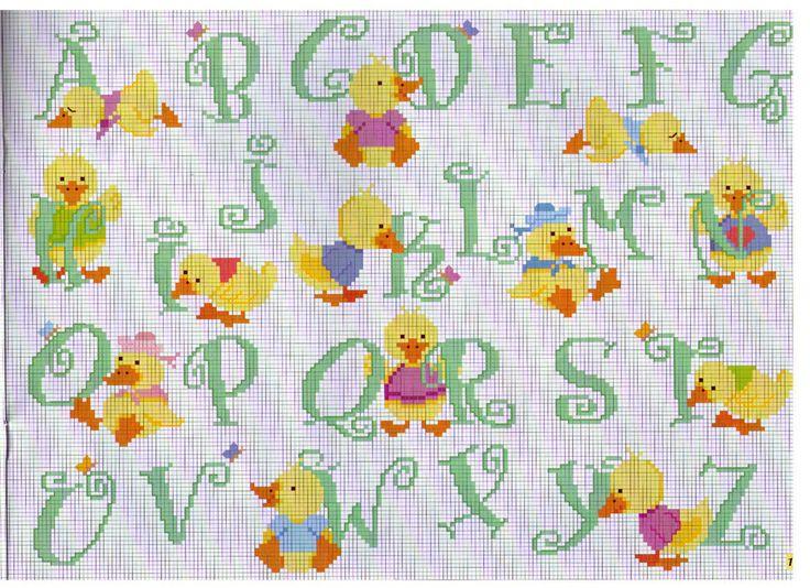 Alfabeto con pulcini