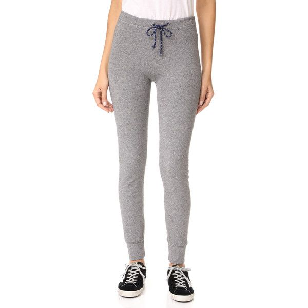SUNDRY Active Skinny Sweats (125 SGD) ❤ liked on Polyvore featuring activewear, activewear pants, heather grey, slim sweat pants, slim fit sweatpants, slim sweatpants, skinny leg sweat pants and lightweight sweatpants