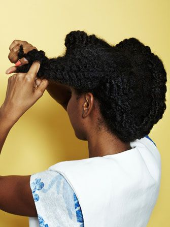 Can't Braid? Try A Two-Strand Twist. #Refinery29 I will master this style so I actually know what to do with my hair.