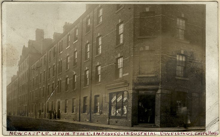 photo 1900..Industrial Dwellings, Garth Heads