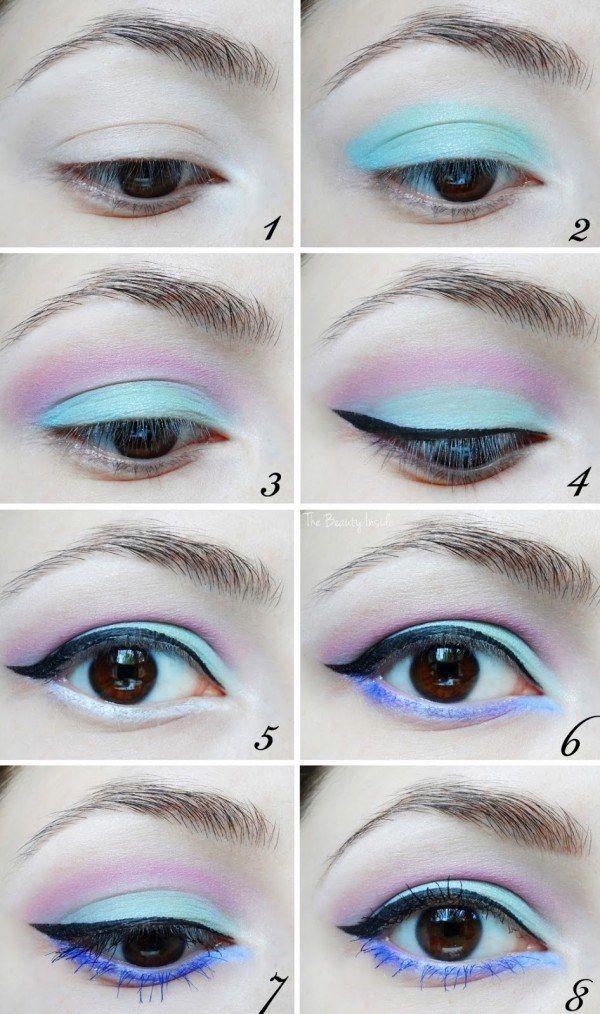 Tenha a melhor vida de pastel goth com esta sombra: | 17 ideias de maquiagem incrivelmente lindas para você arrasar no look