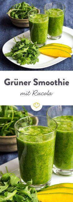 Das Rezept für Rucola Smoothie und viele weitere Smoothie-Rezepte gibt's im…