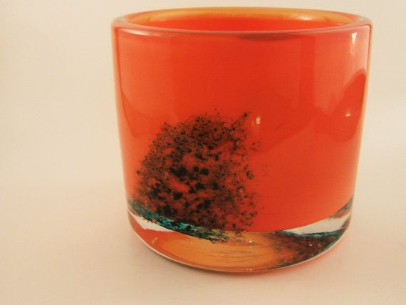 Randsfjord glass by Benny Motzfeldt Scandinavian Glass Vase