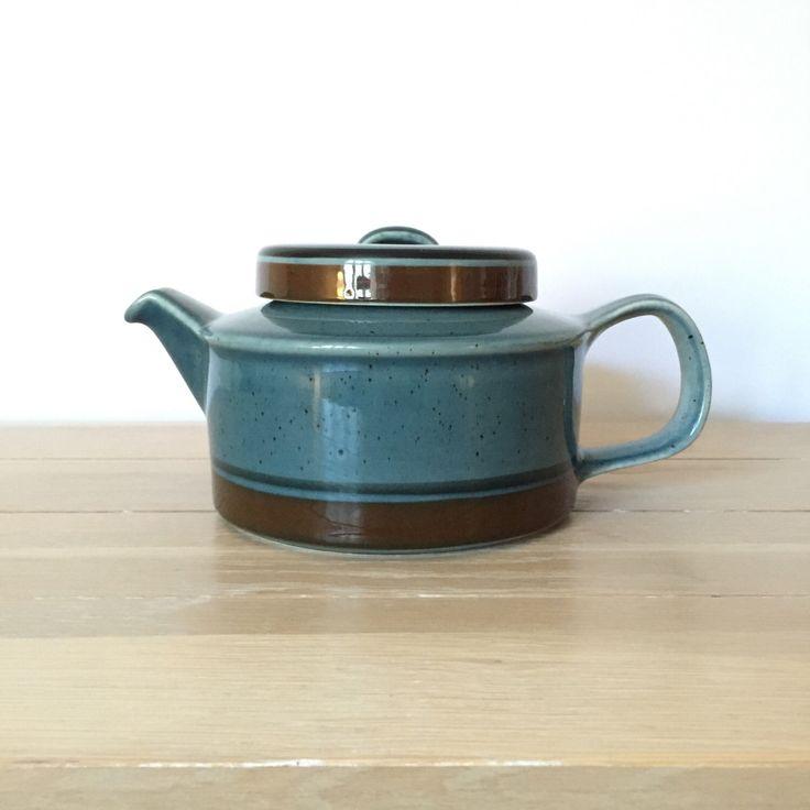 Arabia Finland Meri ceramic tea pot by CopenhagenBlack on Etsy https://www.etsy.com/listing/259853987/arabia-finland-meri-ceramic-tea-pot