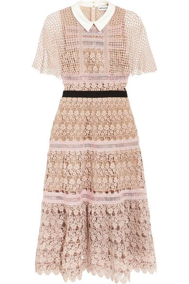 Self-Portrait Floral Lace Midi Dress ($615) - Pippa Middleton and brother James attend Wimbledon | Daily Mail Online
