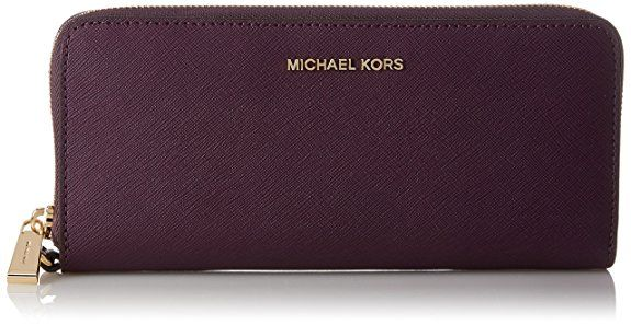 Michael Kors Wallets in plum purple shade with #Gold hardware. Would make a perfect #GiftforHer | #Ad