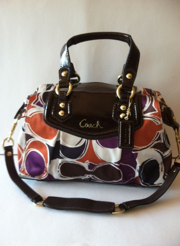 HAND DRAWN SCARF PRINT COACH SATCHEL  RETAIL 358.00 ON SALE FOR $165.00