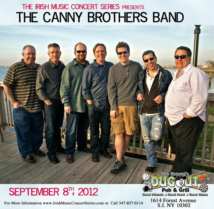 Come out and see The Canny Brothers Band. September 8th. 9pm at Dug Out North. 1614 Forest Avenue Staten Island, NYStaten Islands, Canny Brother, Forests Avenue, Things Irish, Brother Band, 1614 Forests, September 8Th, Avenue Staten