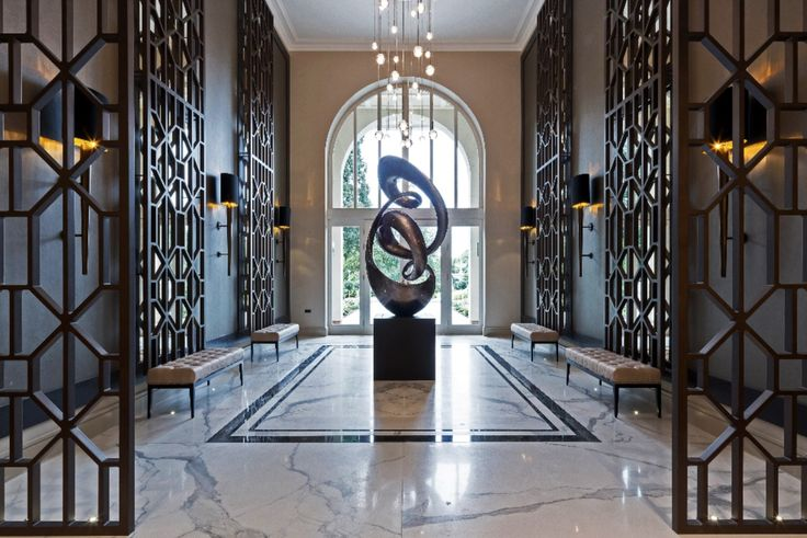 Opulent and stylish, we designed the interiors of this grand communal area within Millgate's stunning Knowle Hill Park development to complement the magnificent @ascotdesign0779 architecture.