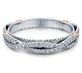 PARISIAN-106W 14K wedding ring from the Parisian Collection, featuring 0.25ct. of round cut diamonds.