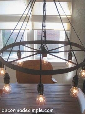 Wagon Wheel Chandelier Design Ideas, Pictures, Remodel and Decor