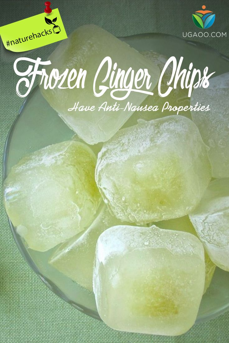 Try frozen ginger chips, if you're feeling Nauseous rather than rushing to pop the first pill you find. Mix fresh ginger in hot water. Strain, then freeze the concoction in ice cube trays. Crush the cubes and suck the icy chips throughout the day. Ginger's anti-nausea properties are particularly effective during pregnancy or after surgery. #ginger #nausea #ugaoo