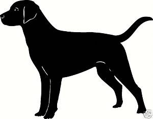 LAB LABRADOR Dog Outline Silhouette Decal Sticker