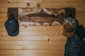 fishing rod rack woodmusky