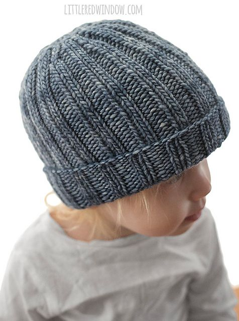 Easy Ribbed Hat pattern by Cassandra May   Beanie knitting ...
