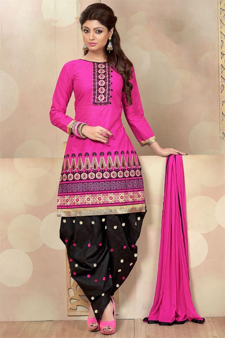 Stylish Party Wear Cotton Patiala Salwar Kameez Patiala