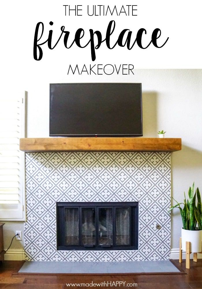 Modern Fireplace Makeover Fireplace Makeover Fireplace Tile Home Fireplace