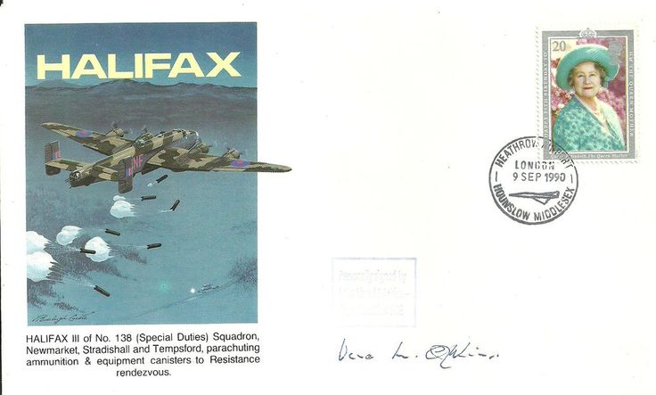 Maurice Buckmaster Cover with Vera M.Atkins-Fench Section SOE signature