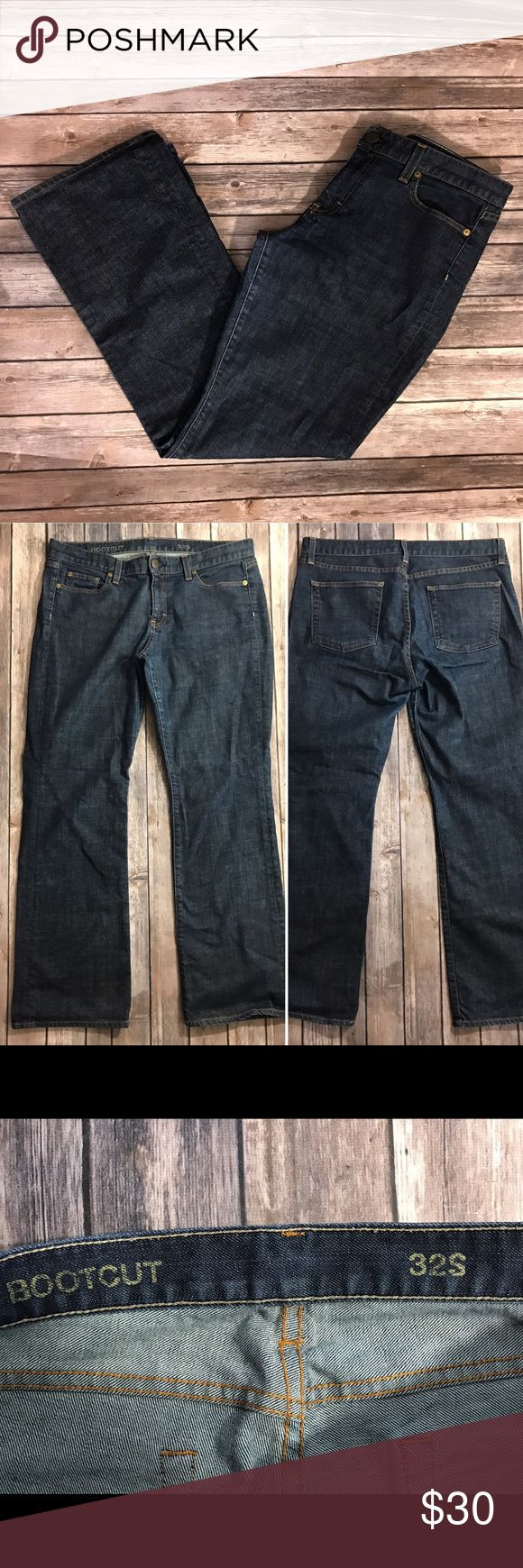 J Crew Womens Bootcut Jeans Size 32 S Dark Blue J Crew Womens Bootcut Jeans Size 32 S Dark Blue Denim Pants. Measurements: (in inches) - Waist: 36 - Length: 40 -Inseam: 30 J. Crew Jeans Boot Cut