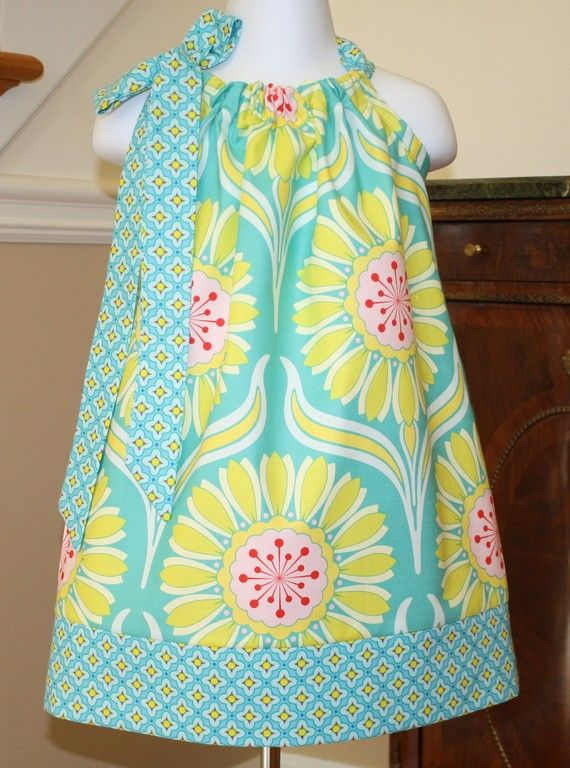 Pillowcase dress Heather Bailey pop Garden by BlakeandBailey, $19.99