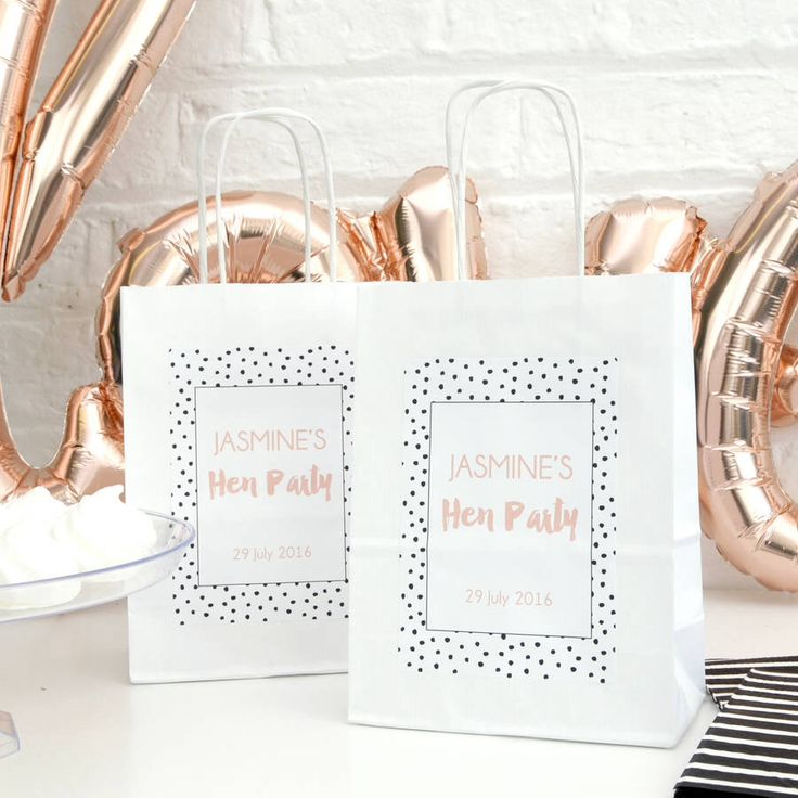 I've just found Personalised Polka Dot Hen Party Bag. These super stylish hen party bags are personalised with the bride-to-be's name and hen party date.. £4.00