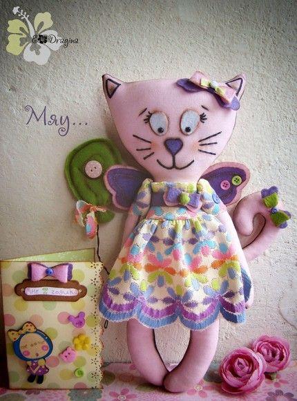 Animais e outros caseiro - bonecas Bonecas Eugenia Dragin têxteis e bonecas de argila do polímero.