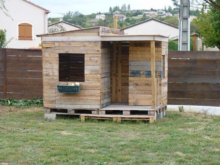 Cabane enfant bois palettes r cup r es r alisations maison jardin pinterest plus d 39 id es - Construire cabane jardin tours ...