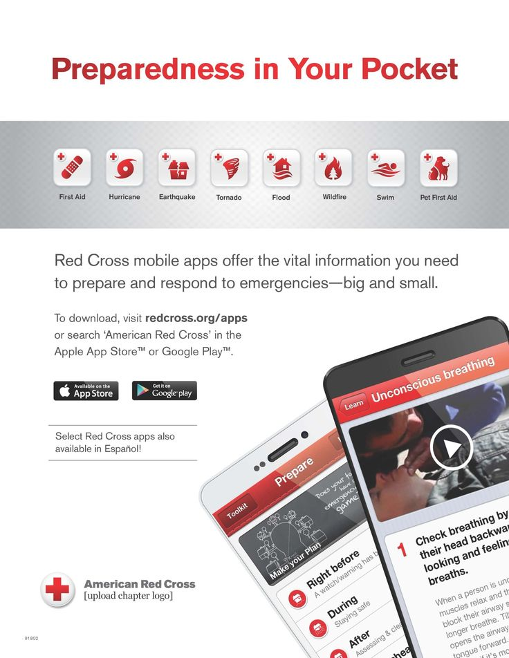 FREE APPS!  Download these Red Cross Apps in your phone's app store and have the power of preparedness in your pocket!