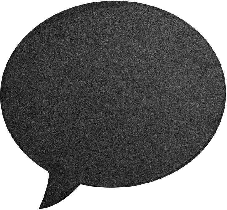 En super krittavle med original snakkebobobledesign! Denne Bloomingville-tavlen er perfekt å skrive og tegne på og vil gjøre seg ypperlig både inne på barnerommet og i hjemmets øvrige rom. <br><br>Mål: 60 x 60 cm. <br><br>Materiale: MDF. <br><br>Farge: svart.