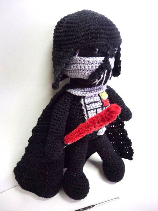 Make your own awesome Darth Vader amigurumi doll with this free crochet pattern! It'd make a cool gift for any Star Wars fan. The dark side has never looked so cute!