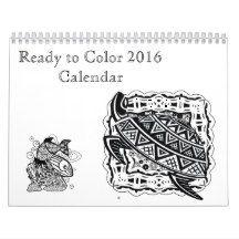 Mandala coloring calendar 2016
