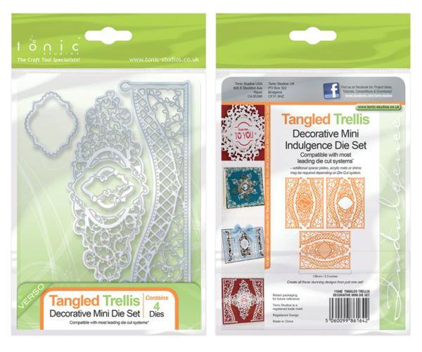 Tonic Studio Mini Strip Die Set Tangled Trellis