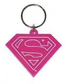 Superman Pink - Rubber Keyring
