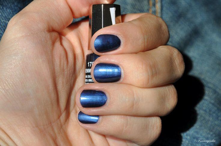 Лак для ногтей Глянцевый синий