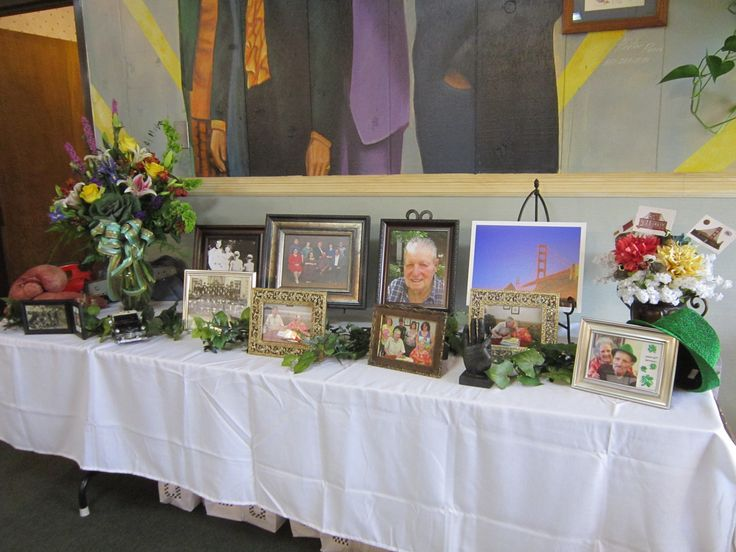 Kat wrote: This was the Memorial table at my dad's Celebration Of Life on June 21, 2014.