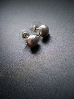 Sterling silver stud earrings - See how these are made...from scraps here: http://www.lamazonian.com/2011/12/sterling-silver-stud-earrings.html $35: Silver Stud Earrings, Sterling Silver, Silver Studs Earrings