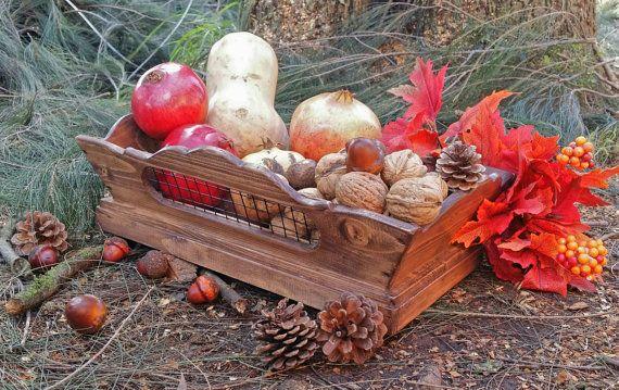 Centrotavola in legno fruttiera in stile di DorealiStudioRoma